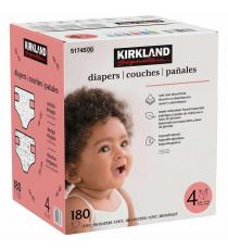 Kirkland Signature Diapers Size 4, 180-count