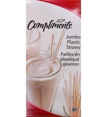 Compliments Pailles en Plastique Jumbo - Pack de 300