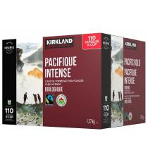 Kirkland Signature - Capsules K-Cup biologique pacifique intense café équitable, Paquet de 110