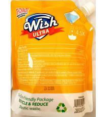 Wish Recharge de désinfectant pour les mains parfum d'agrumes citron avec hydratant supplémentaire, 1 L