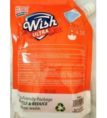 Wish Recharge de désinfectant pour les mains, parfum pêche avec hydratant supplémentaire, 1 L