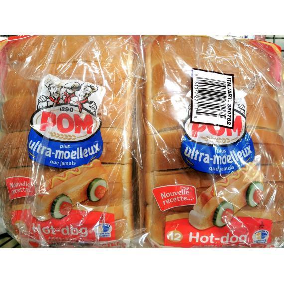 Pom Hot Dog Bread, 2 x 12