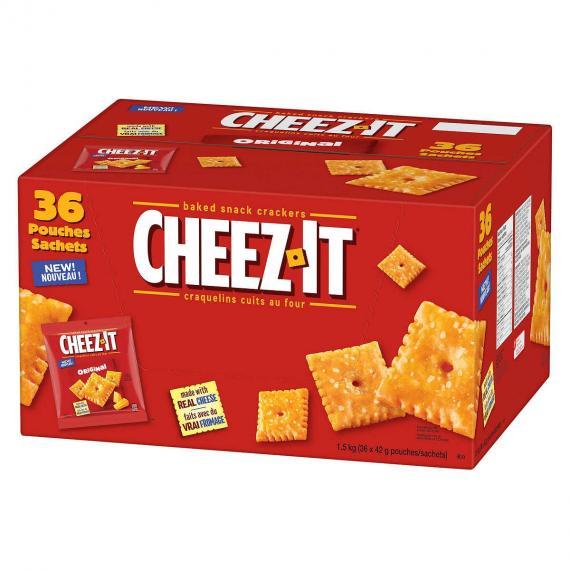 Cheez-It Original Baked Snack Crackers, 36-count