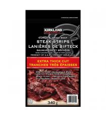 Kirkland Signature Extra Thick Steak Strips, 340 g