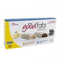 Love Good Fats - Boite de 12 barres collations variées à saveur de mousse au citron et de biscuit et crème