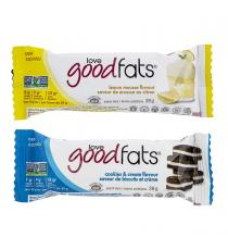 Love Good Fats Lemon and Cookies and Cream Keto-friendly Snack Bar Variety Pack, 12-count