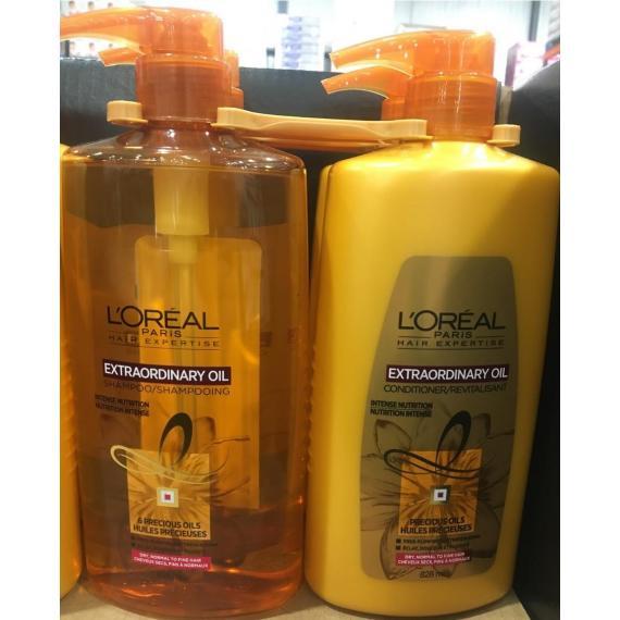 LOREAL Extraordinary Oil Shampoo + Conditioner, 2 x 828 ml
