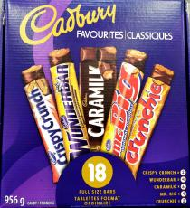Barres de variété Cadbury, 18