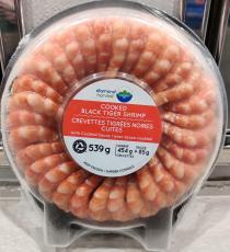 DIAMOND HARVEST Plateau Crevettes Tigrees Noires Cuites + Sauce 26/30, 539 g