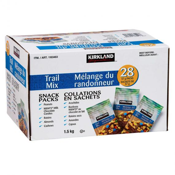 Kirkland Signature Snack Pack (Trail Mix), 28*57 gr