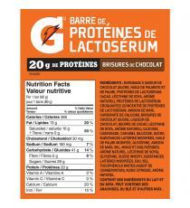 Gatorade - Boite de 12 barres protéinées avec brisures de chocolat, 12 x 80 g