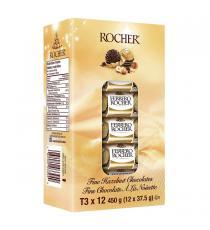 FERRERO ROCHER T3 Fine Hazelnut Chocolates, 12 x 37.5 g