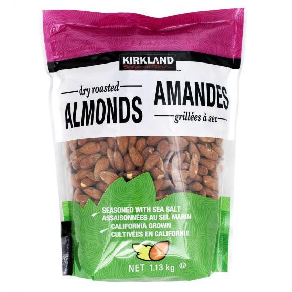 Kirkland Signature Dry Roasted Almonds, 1.13 kg