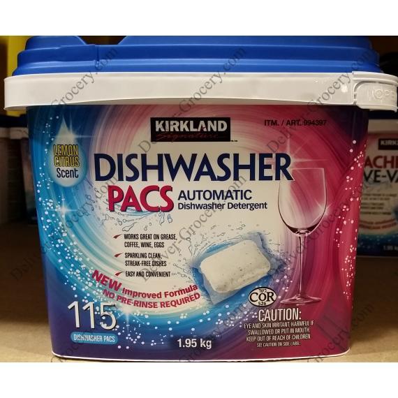 Kirkland Signature Dishwasher Pacs 1.95 kg
