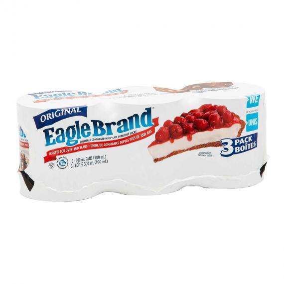 Lait Condensé Sucré Eagle Brand, 3 x 300 ml