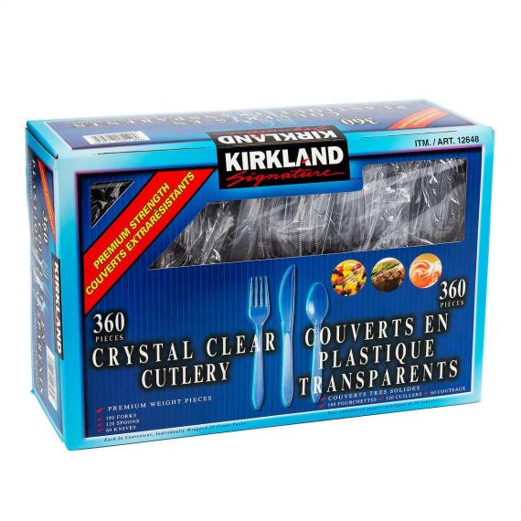 Kirkland Signature Crystal Clear Cutlery pack of 360