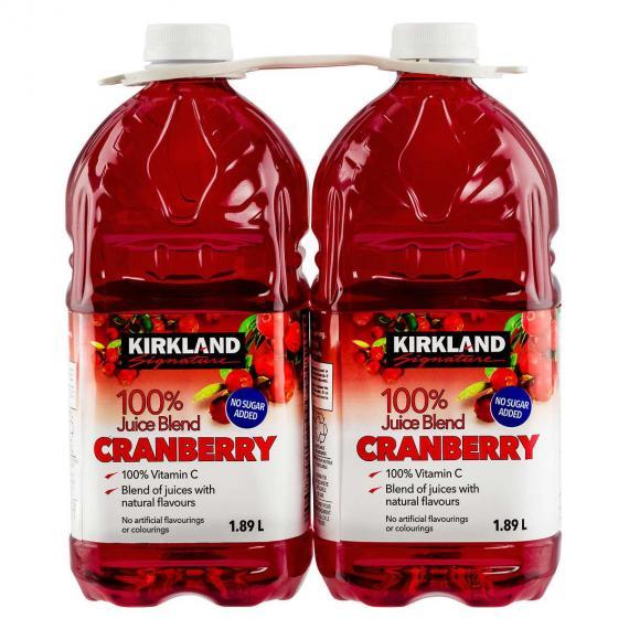 Kirkland Signature de Jus de Canneberges 2 x 1.89 L