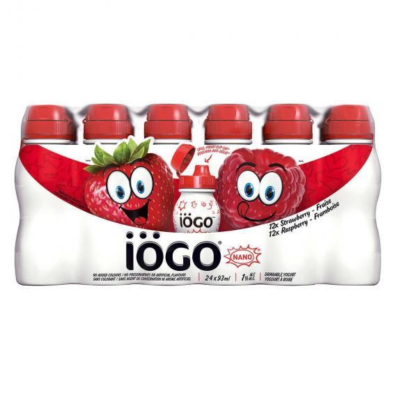 IOGO Nano Drinkable Yogurt, 24 x 93 ml