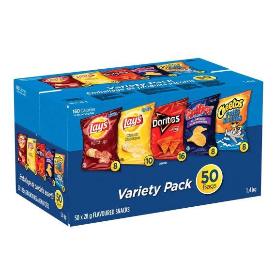 Frito Lay Chips Variety Pack 50 × 28 g