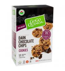 GoGo Quinoa - Boite de biscuits de quinoa aux pépites de chocolat noir biologiques 18 x 33 g
