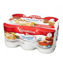 Carnation Evaporated Milk, 6 x 354 ml