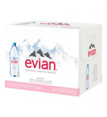 EVIAN Water Source Of The French Alps 12 x 1 L