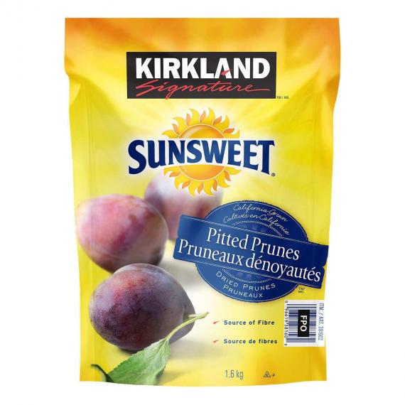 Kirkland Signature Sunsweet Pitted Prunes, 1.6 kg