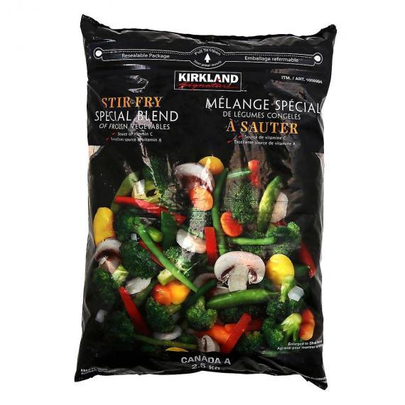 Kirkland Signature sauté de Mélange de Légumes Surgelés, 2,5 kg