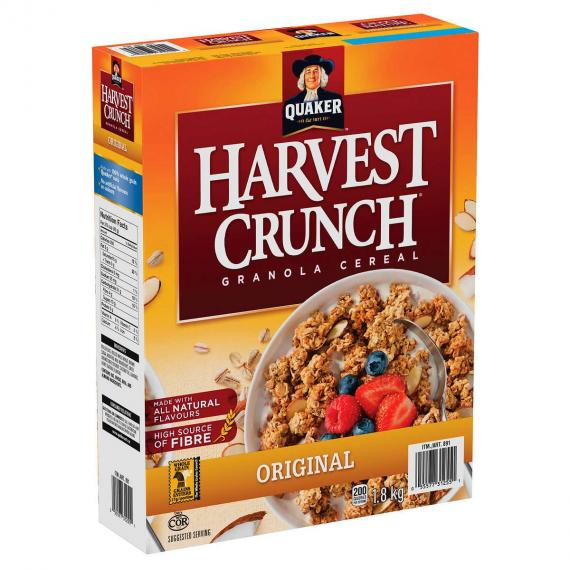 Quaker Harvest Crunch Granola Cereal, 1.8 kg