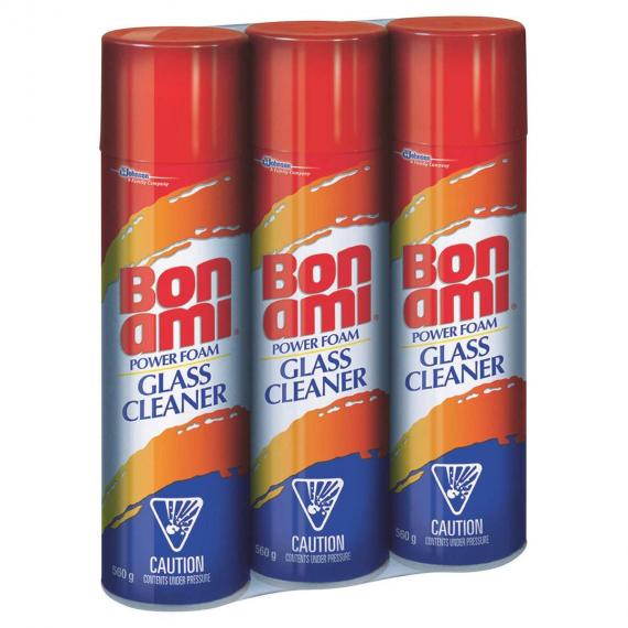 BON AMI Glass Cleaner Power Foam, 3 packs x 560 g