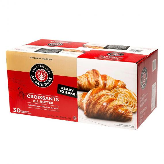AU PAIN DORE Croissants All Butter, 30 x 70 g