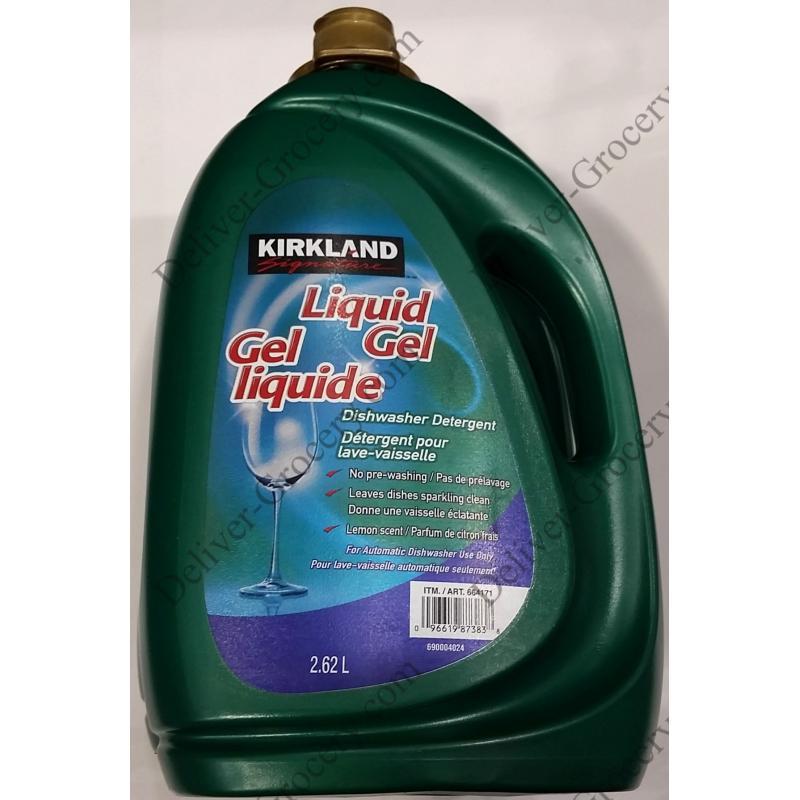 kirkland signature gel liquide d tergent pour lave vaisselle 2 x 2 62 l deliver grocery online. Black Bedroom Furniture Sets. Home Design Ideas