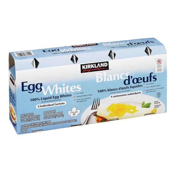 Kirkland Signature Egg Whites, 4 x 500 g