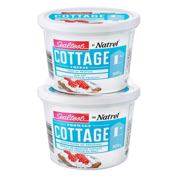 NATREL Sealtest Fromage Cottage 1%, 2 x 500 g