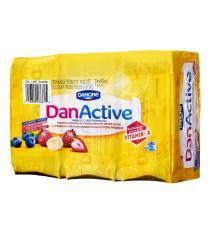 DANONE DAN ACTIVE à Boire Probiotiques du Yogourt de 1,5%, 24 x 93 ml