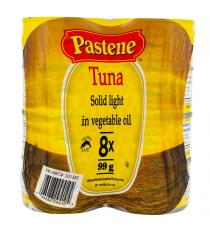 Pastene Solid Light Tuna in Vegetable Oil 8 x 99 g