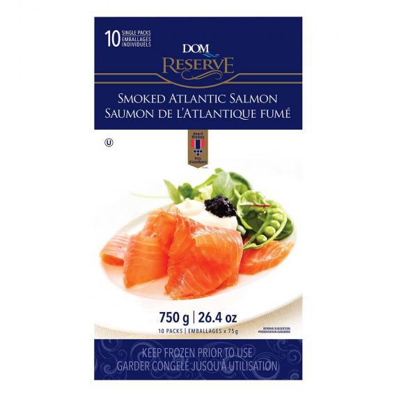 DOM RESERVE Smoked Salmon, 750 g