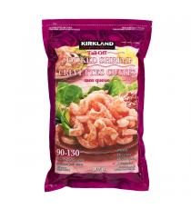 Kirkland Signature Frozen Chemical-free 90-130 Tail-off Cooked Shrimp 907 g