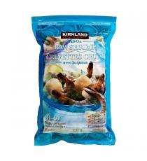 Kirkland Signature - Crevettes crues avec la queue exemptes de produits chimiques 31-40 907 g