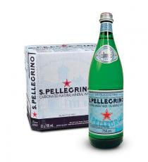 San Pellegrino Carbonated Natural Mineral Water 12 x 750 ml