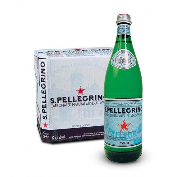 San Pellegrino Eau Minérale Naturelle Gazéifiée 12 x 750 ml