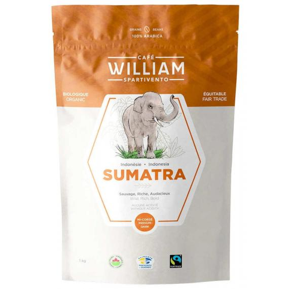 William Spartivento Sumatra Organic Coffee Beans 1000 g