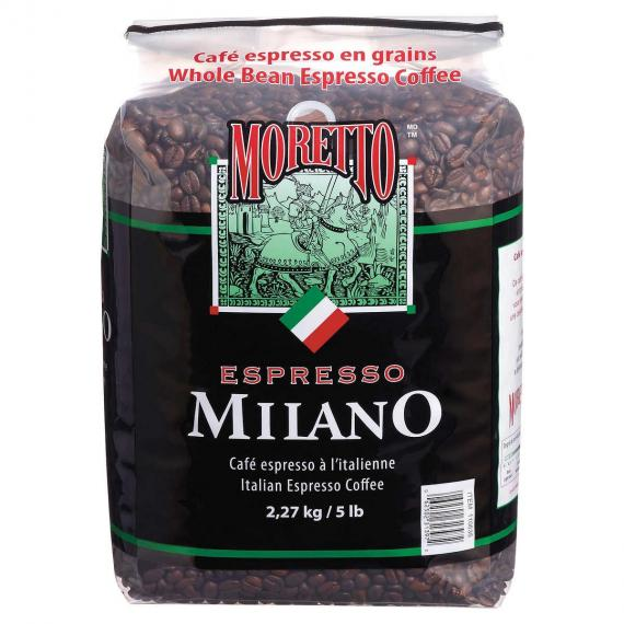 Moretto Whole Bean Espresso Coffee Milano 2.27 Kg