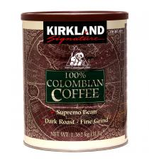 Kirkland Signature 100% Colombian Coffee 1.36 kg