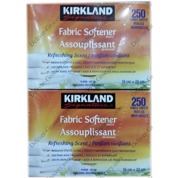 Kirkland Signature Fabric Softener Sheets 2 x 250 single sheets