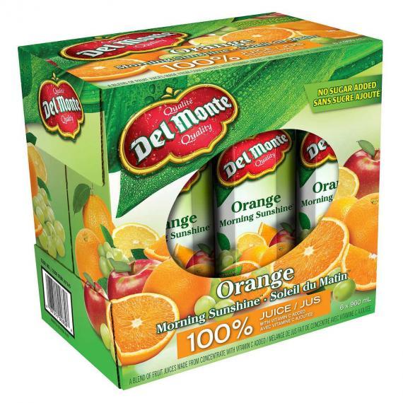 Del Monte Jus d'Orange, 6 x 960 ml