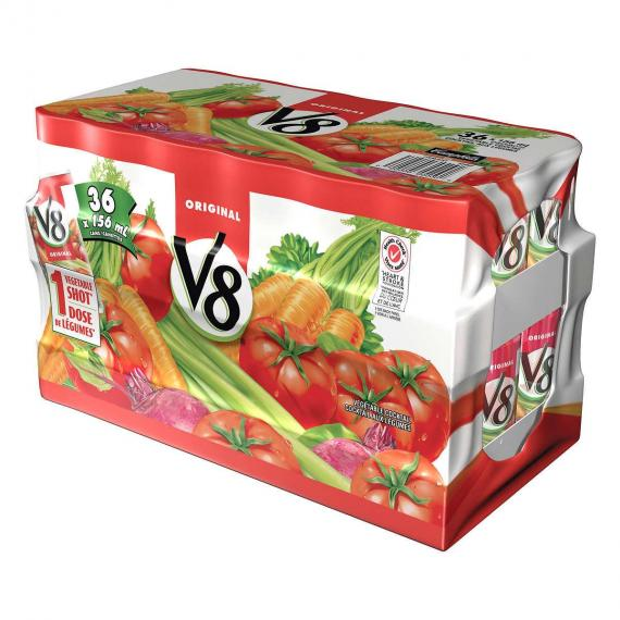 V8 Vegetable Cocktail, 36 x 156 ml