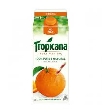 Tropicana Original Orange Juice, No Pulp, 4 x 1.89 L
