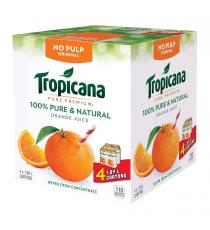 Tropicana d'Origine de Jus d'Orange, Sans Pulpe, 4 x 1.89 L