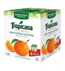 Tropicana Bistrot de Jus d'Orange, un peu de pulpe, 4 x 1.89 L